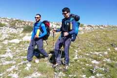 Marco e Stefano a scendere verso Guado di Coccia