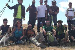 Il gruppo compatto in vetta alla Sibilla